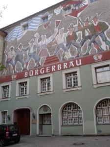 nach dem Markt bayrische Küche im Bürgerbräu