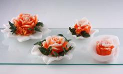 Rosen-auf-Teller