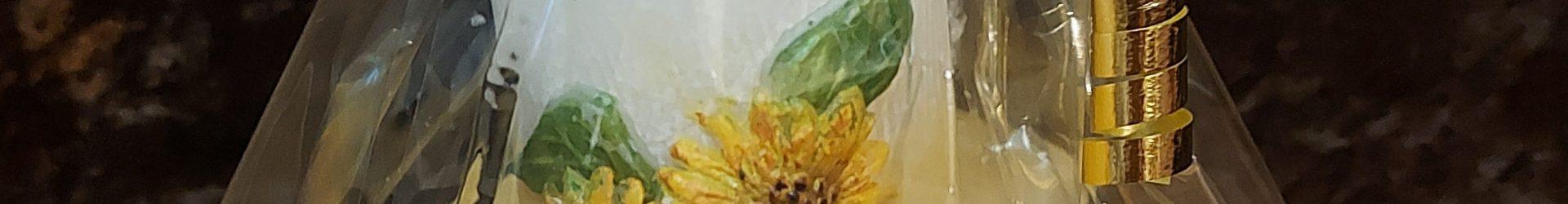 Fächerkerze klein Sonnenblumen