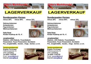 thumbnail of Flyer Lagerverkauf Sommer 2016
