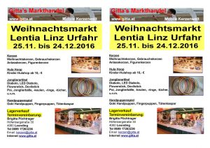 thumbnail of Flyer Lentia Weihnachtsmarkt 2016